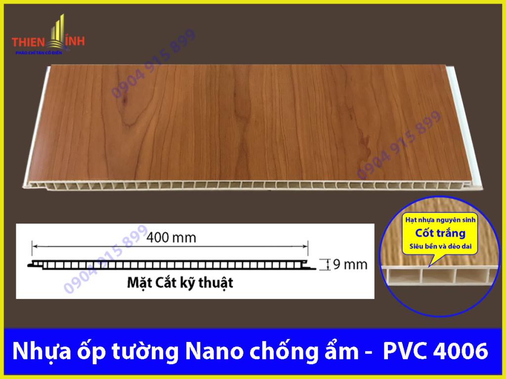 Nhựa ốp tường Nano chống ẩm - PVC 4006
