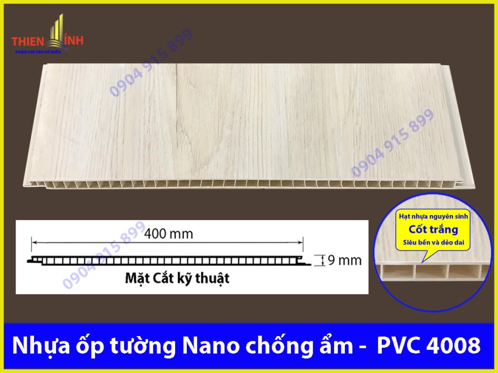 Nhựa ốp tường Nano chống ẩm - PVC 4008