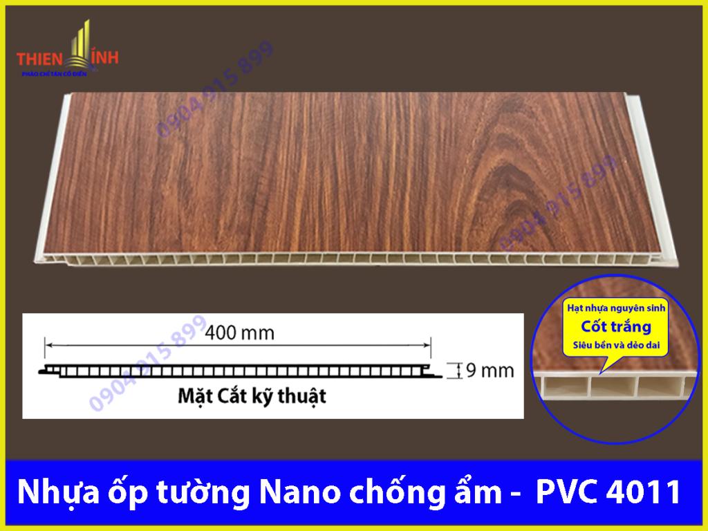 Nhựa ốp tường Nano chống ẩm - PVC 4011