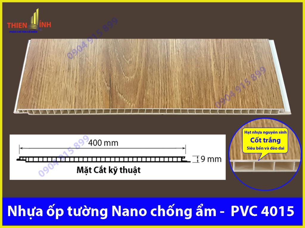 Nhựa ốp tường Nano chống ẩm - PVC 4015