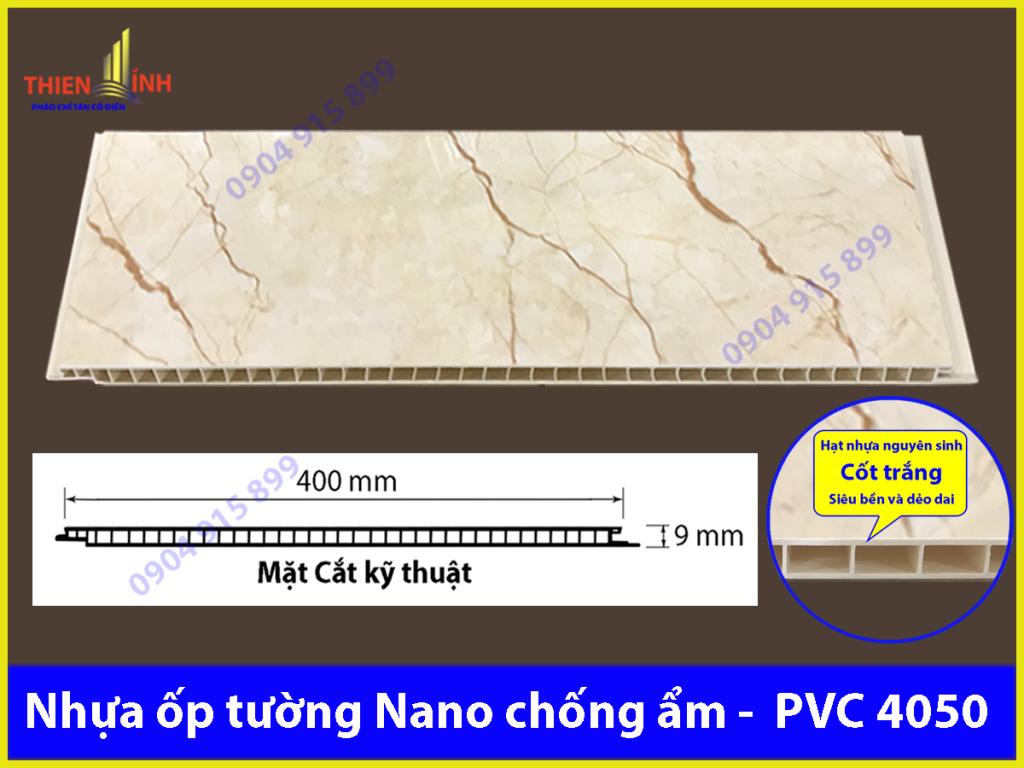Nhựa ốp tường Nano chống ẩm - PVC 4050