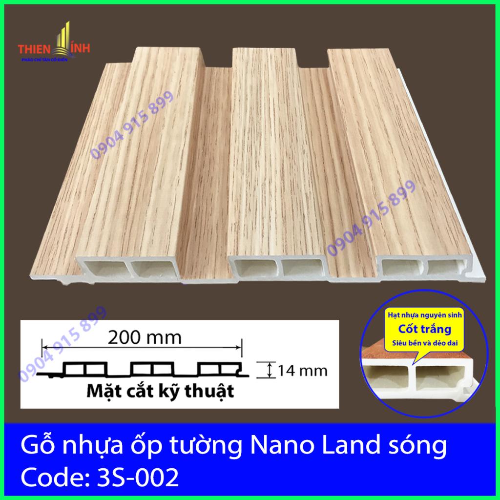 Gỗ nhựa ốp tường Nano Nand sóng 3S-002
