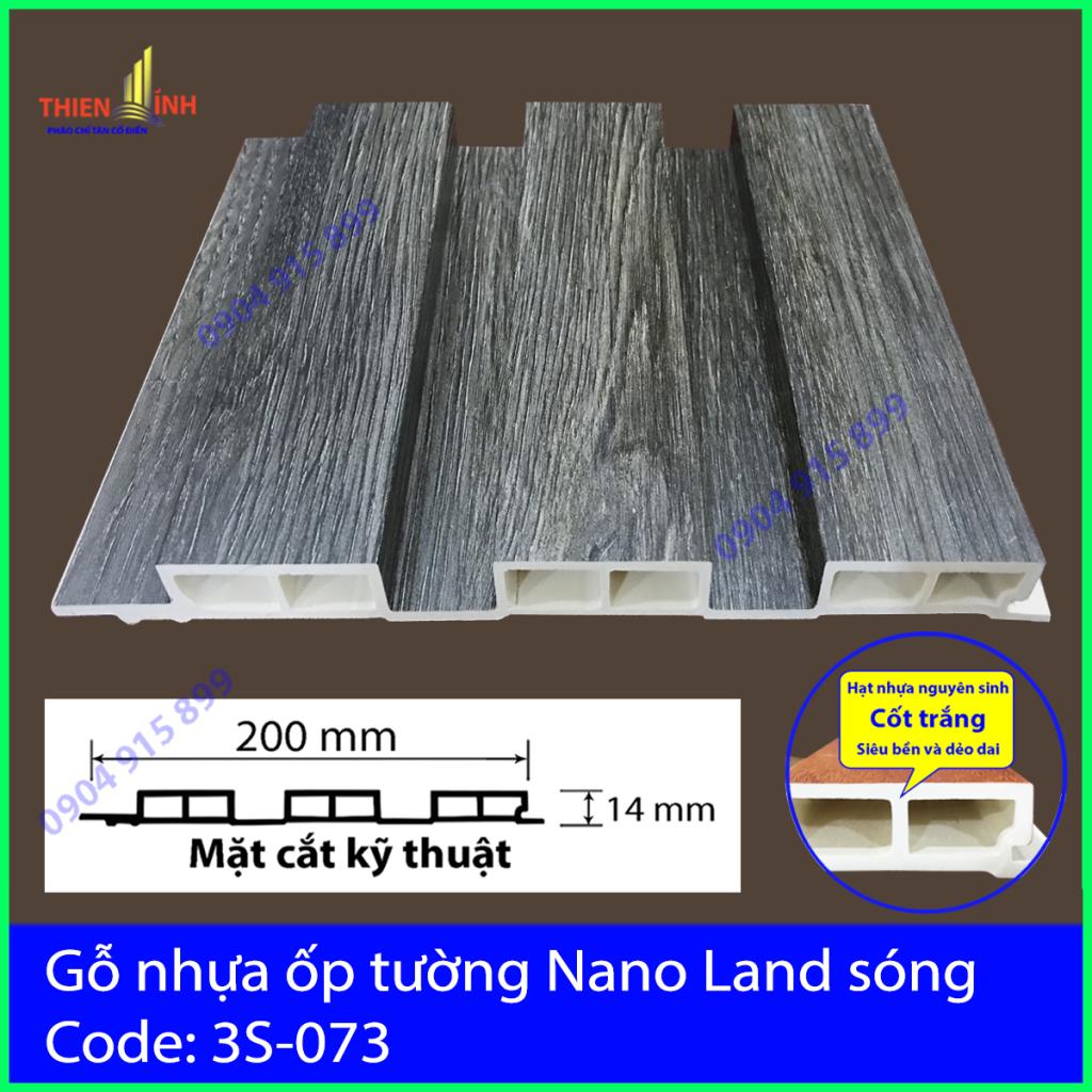 Gỗ nhựa ốp tường Nano Nand sóng 3S-073