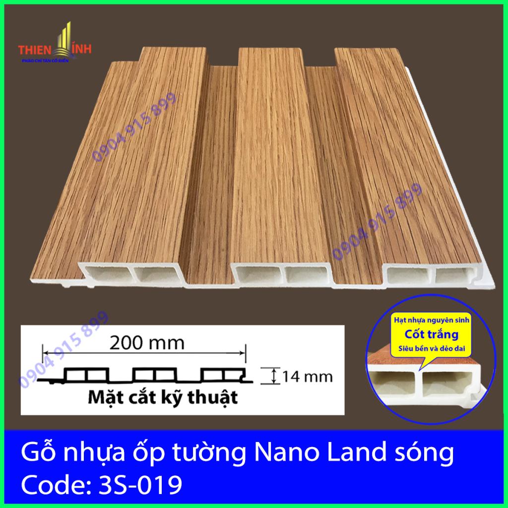 Gỗ nhựa ốp tường Nano nand sóng 3S-019