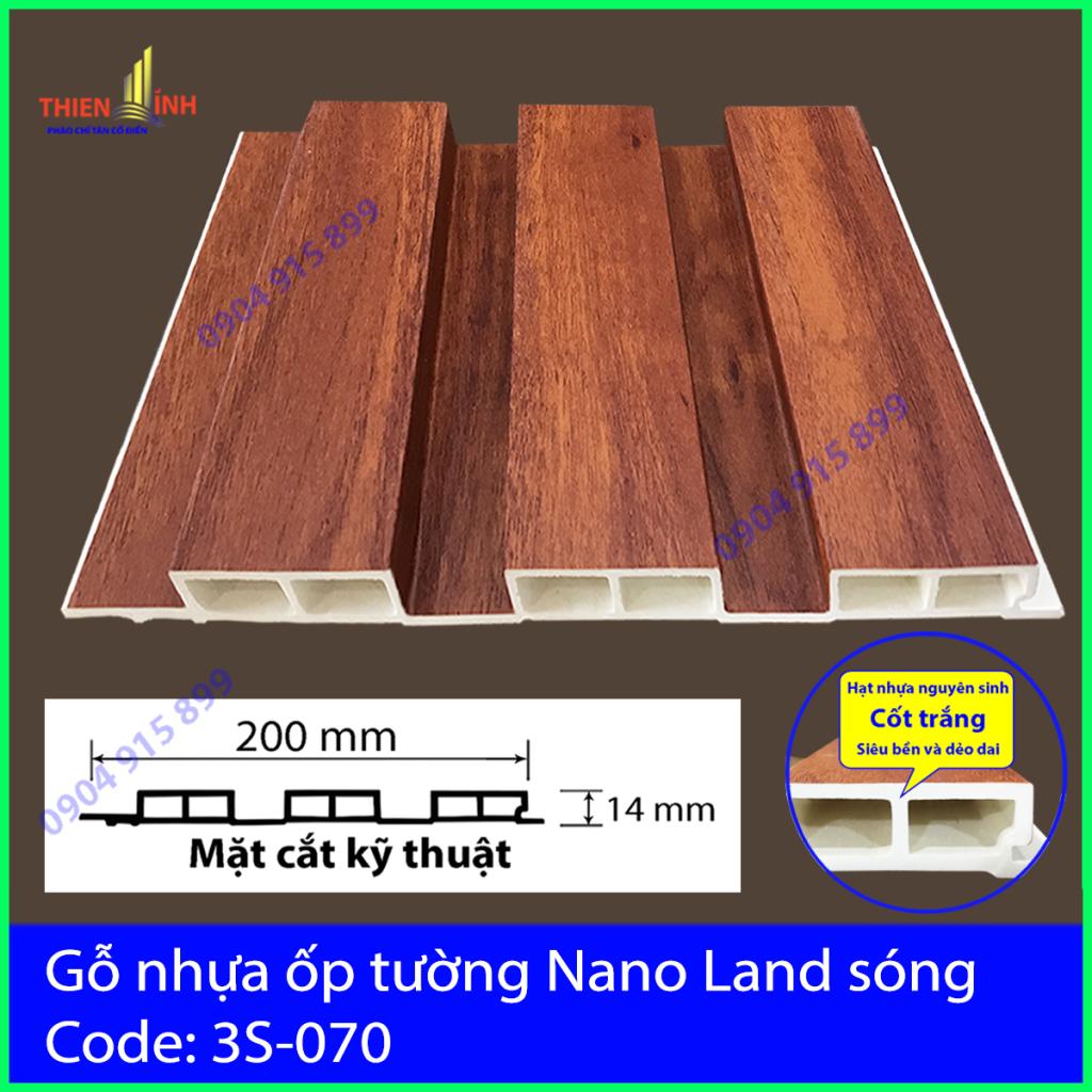 Gỗ nhựa ốp tường Nano nand sóng 3S-070