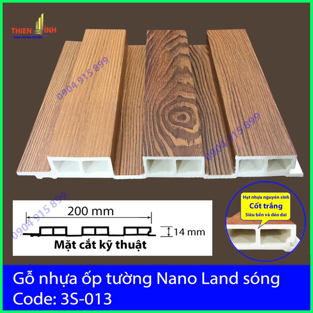 Gỗ nhựa ốp tường Nano Nand sóng 3S-013