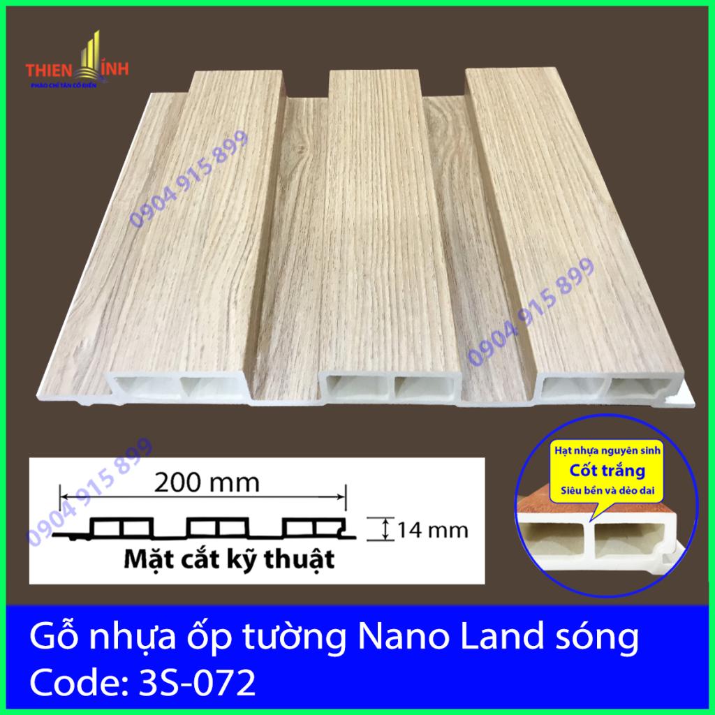 Gỗ nhựa ốp tường Nano Nand sóng 3S-072