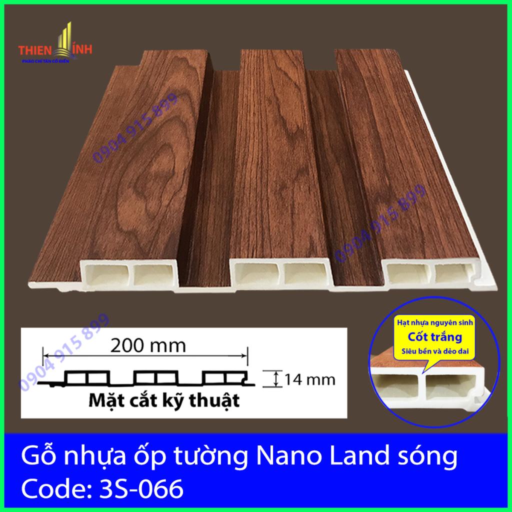 Gỗ nhựa ốp tường Nano nand sóng 3S-066