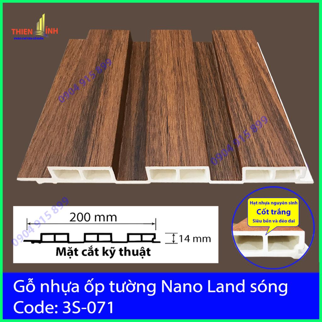 Gỗ nhựa ốp tường Nano nand sóng 3S-071
