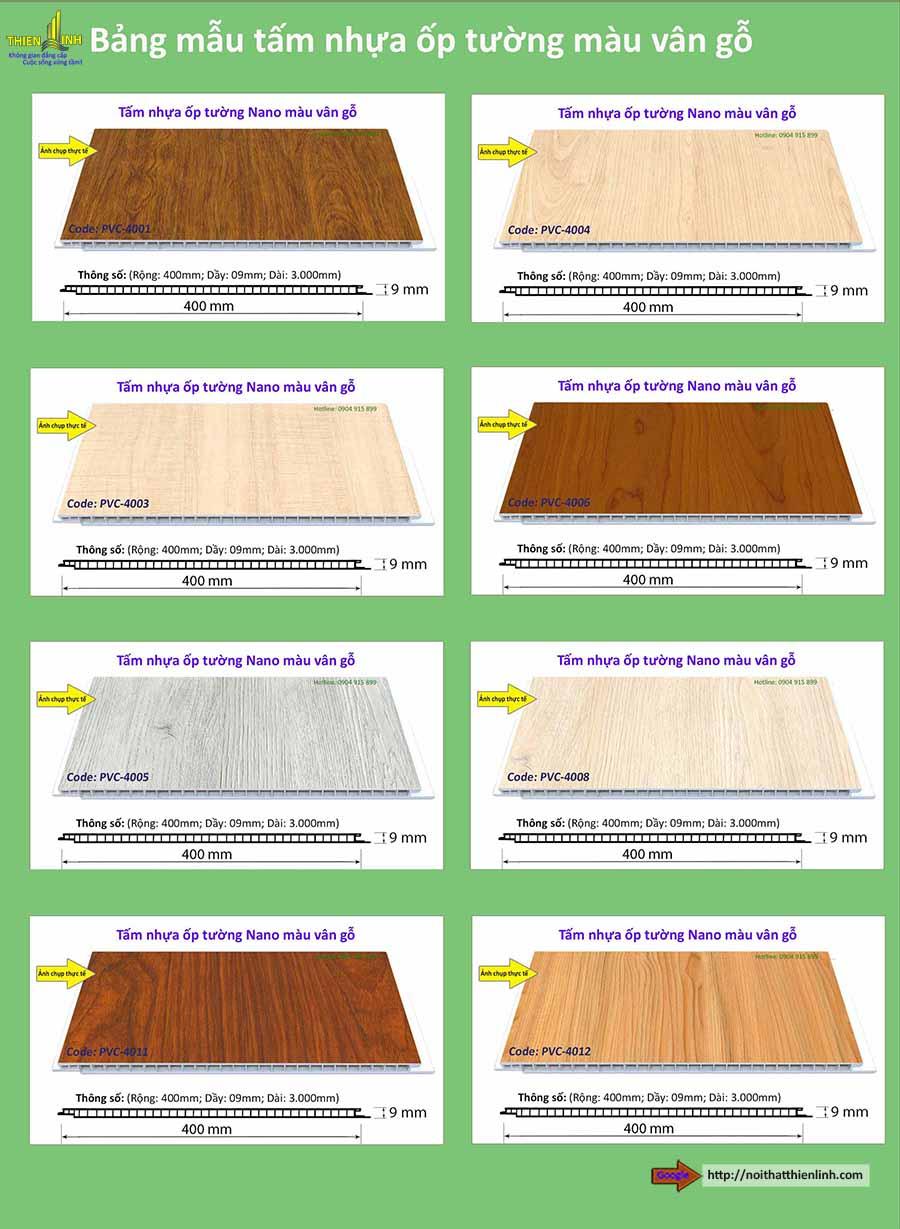 Tấm nhựa gỗ nano ốp tường