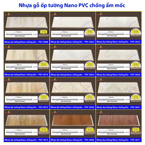 Nhựa ốp tường Nano PVC chống ẩm mốc