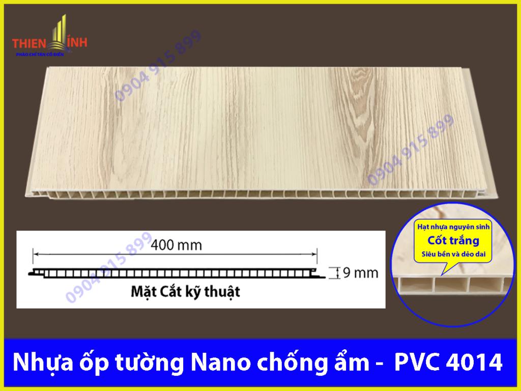 Nhựa ốp tường Nano chống ẩm - PVC 4014