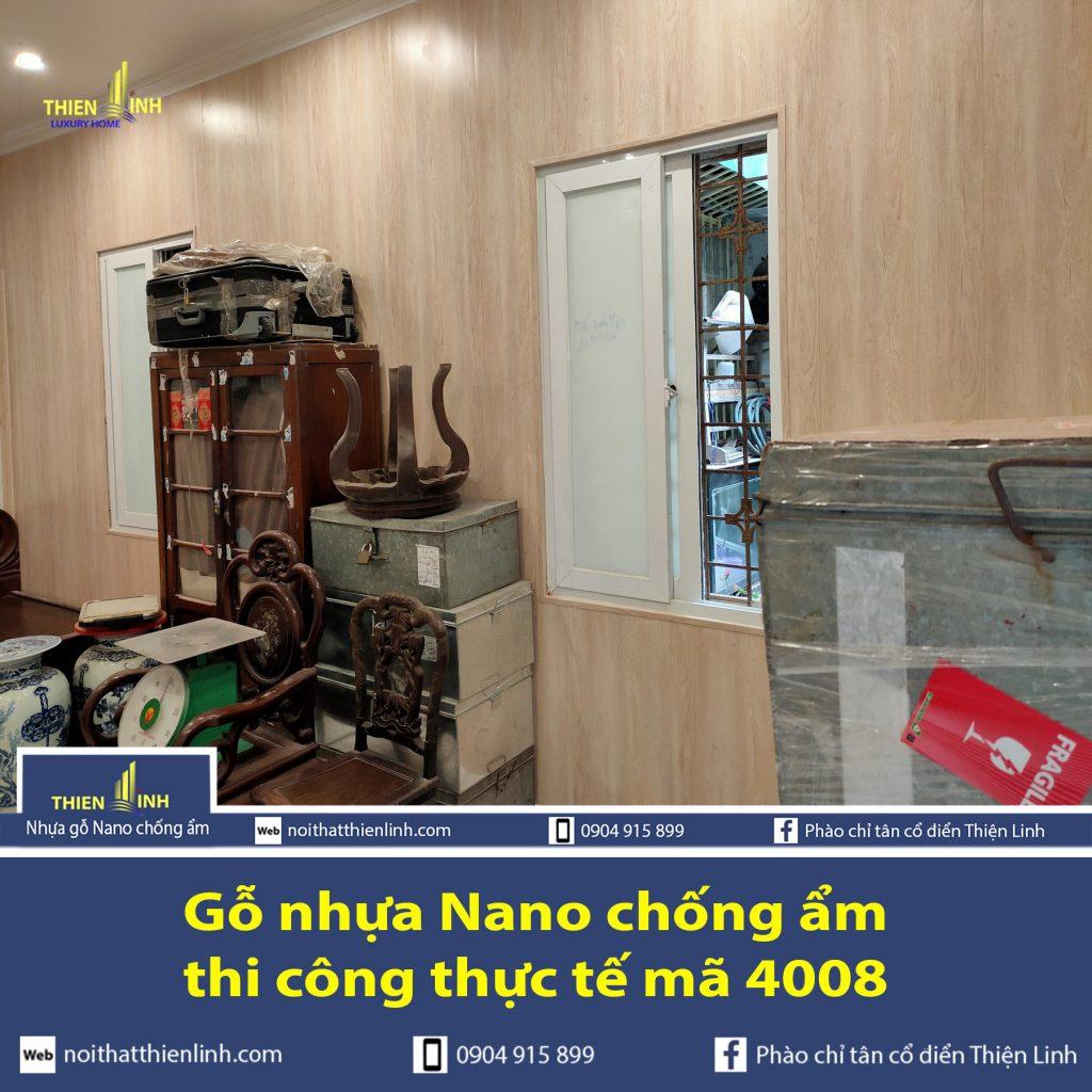 Gỗ nhựa Nano chống ẩm thi công thực tế mã 4008 (2)