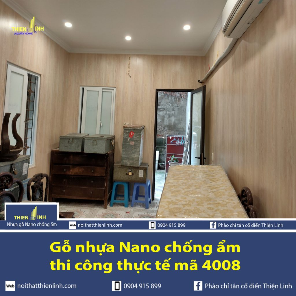 Gỗ nhựa Nano chống ẩm thi công thực tế mã 4008 (3)