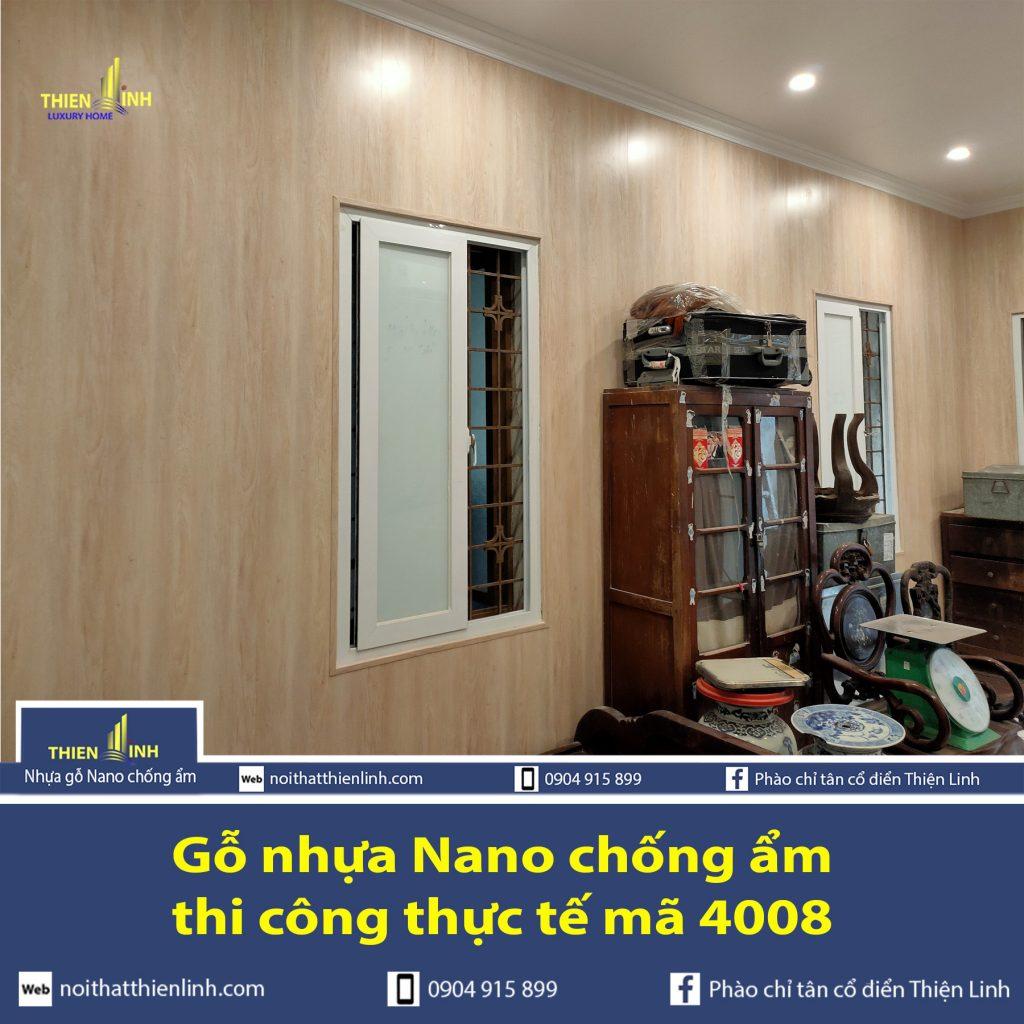 Gỗ nhựa Nano chống ẩm thi công thực tế mã 4008 (4)
