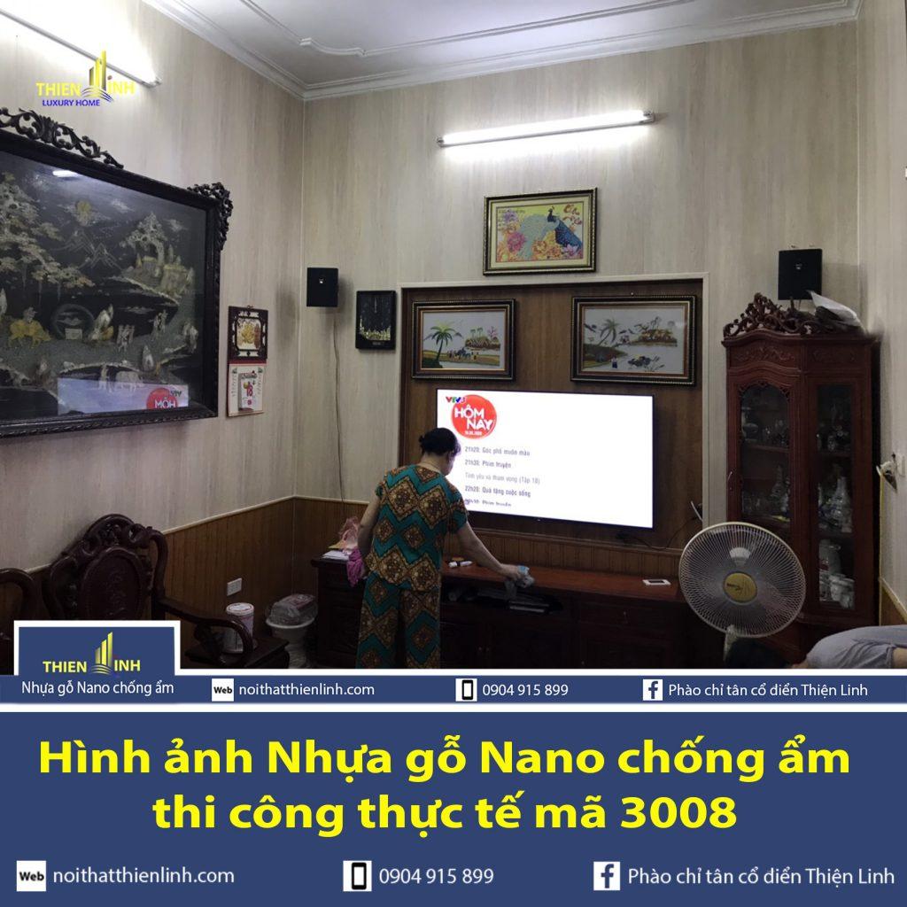 Hình ảnh Nhựa gỗ Nano chống ẩm thi công thực tế mã 3008 (3)