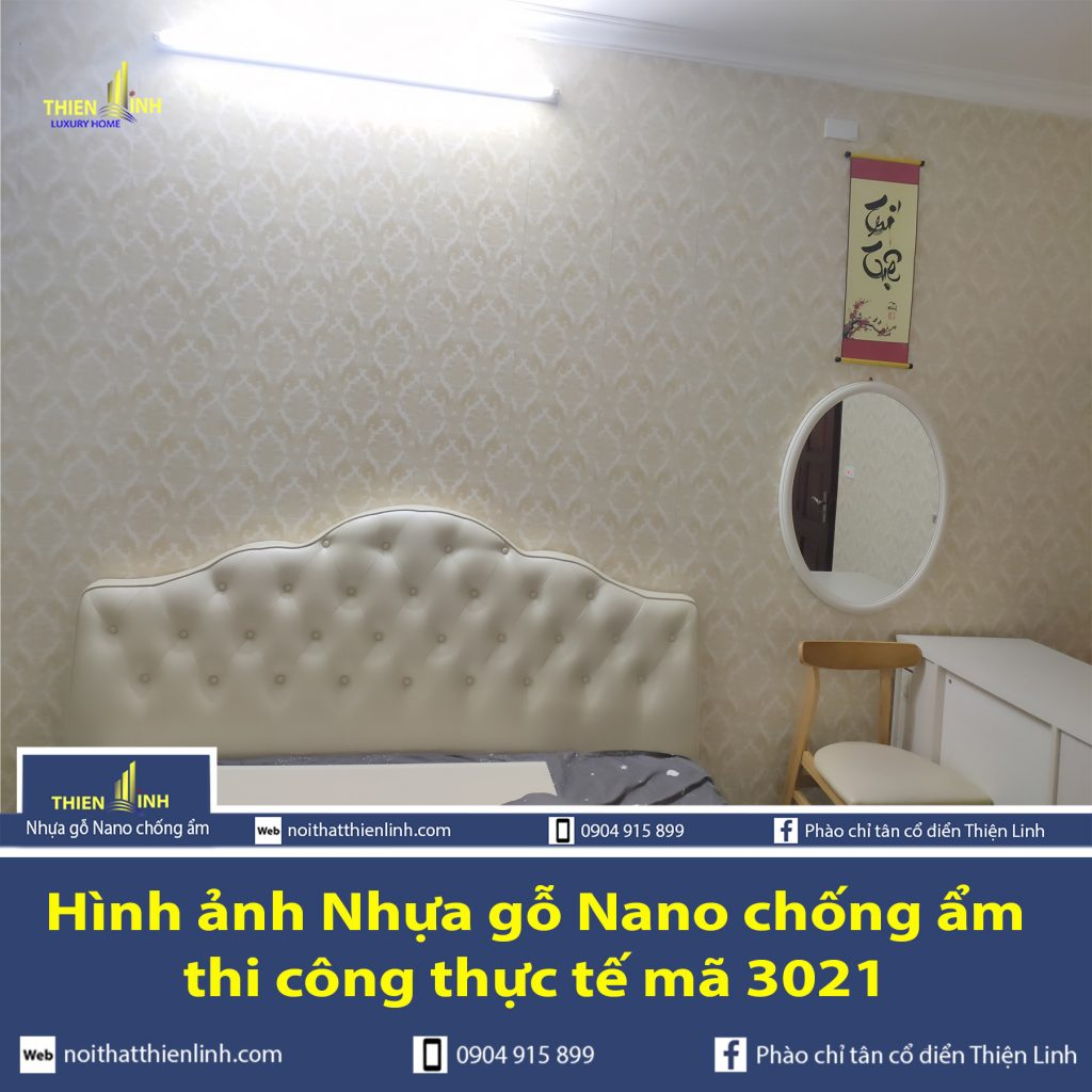 Hình ảnh Nhựa gỗ Nano chống ẩm thi công thực tế mã 3021 (1)