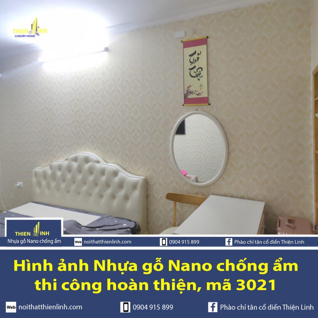 Hình ảnh Nhựa gỗ Nano chống ẩm thi công thực tế mã 3021 (2)