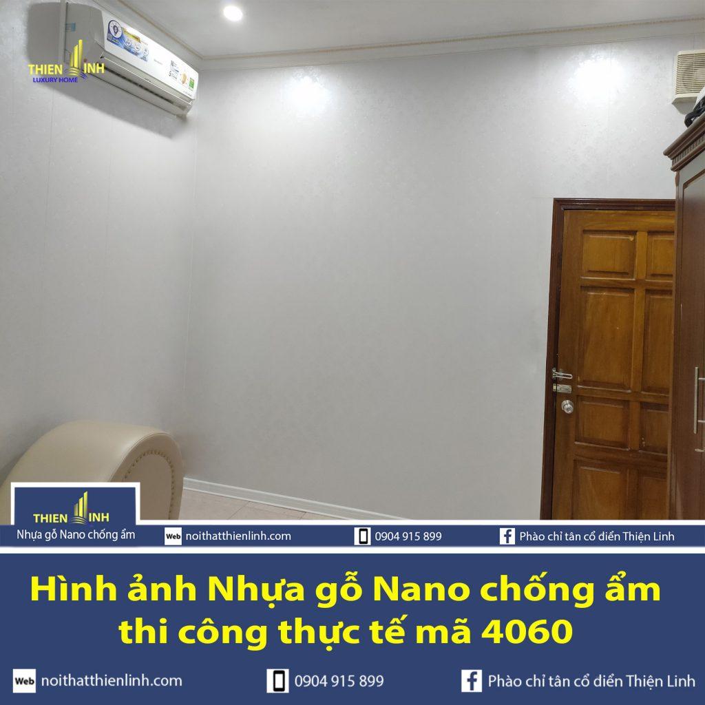 Hình ảnh Nhựa gỗ Nano chống ẩm thi công thực tế mã 4060 (2)