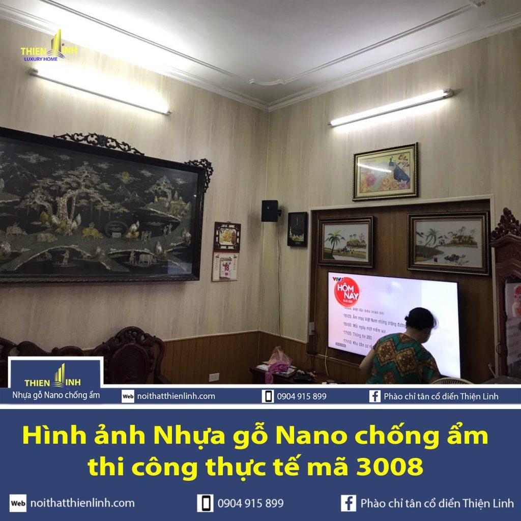 Hình ảnh Nhựa gỗ Nano chống ẩm thi công thực tế mã 3008 (1)