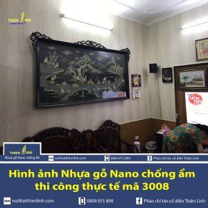 Hình ảnh Nhựa gỗ Nano chống ẩm thi công thực tế mã 3008 (2)