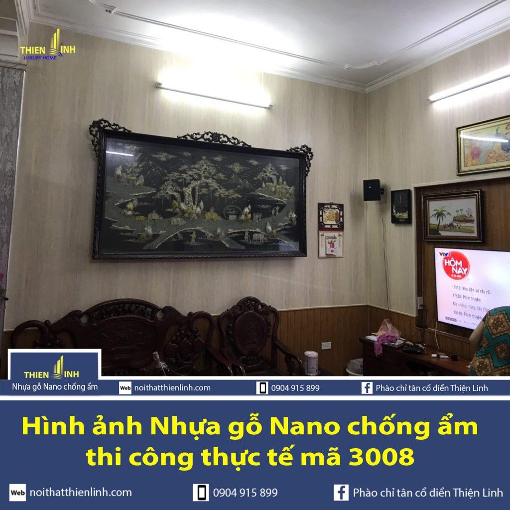 Hình ảnh Nhựa gỗ Nano chống ẩm thi công thực tế mã 3008 (4)
