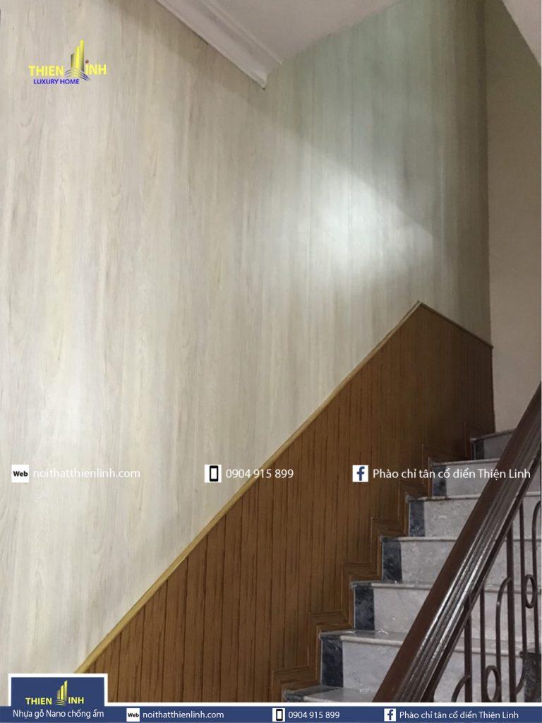 Hình ảnh Nhựa gỗ Nano chống ẩm thi công thực tế mã 3008 (5)