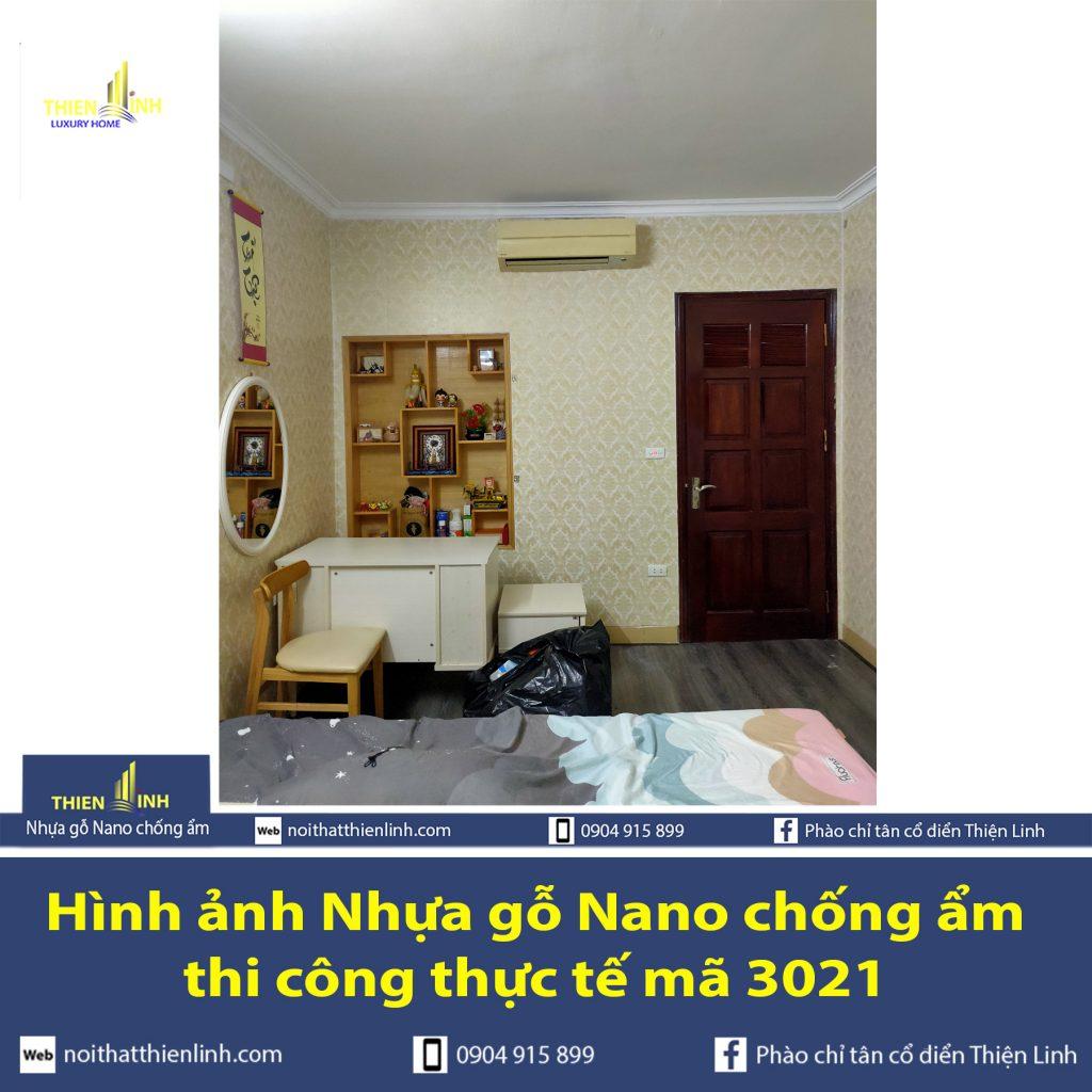 Hình ảnh Nhựa gỗ Nano chống ẩm thi công thực tế mã 3021 (4)