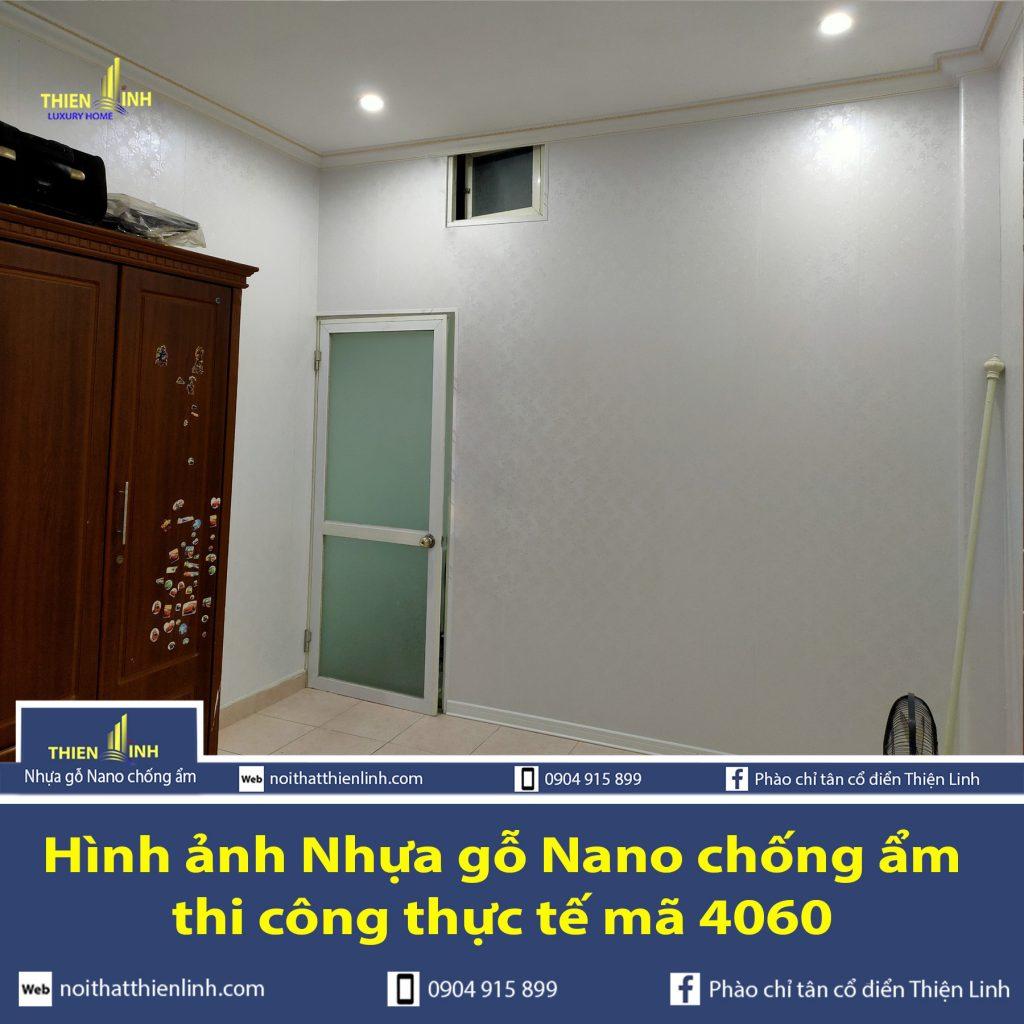 Hình ảnh Nhựa gỗ Nano chống ẩm thi công thực tế mã 4060 (1)