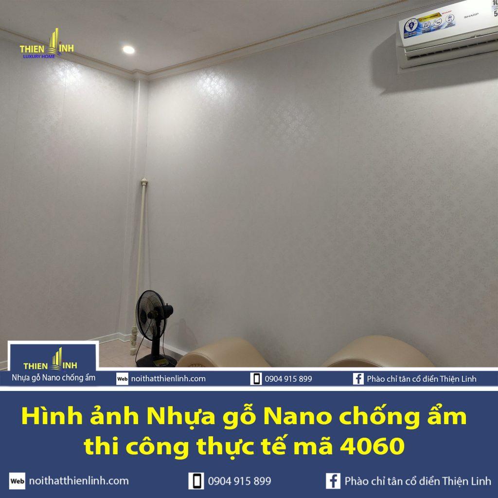 Hình ảnh Nhựa gỗ Nano chống ẩm thi công thực tế mã 4060