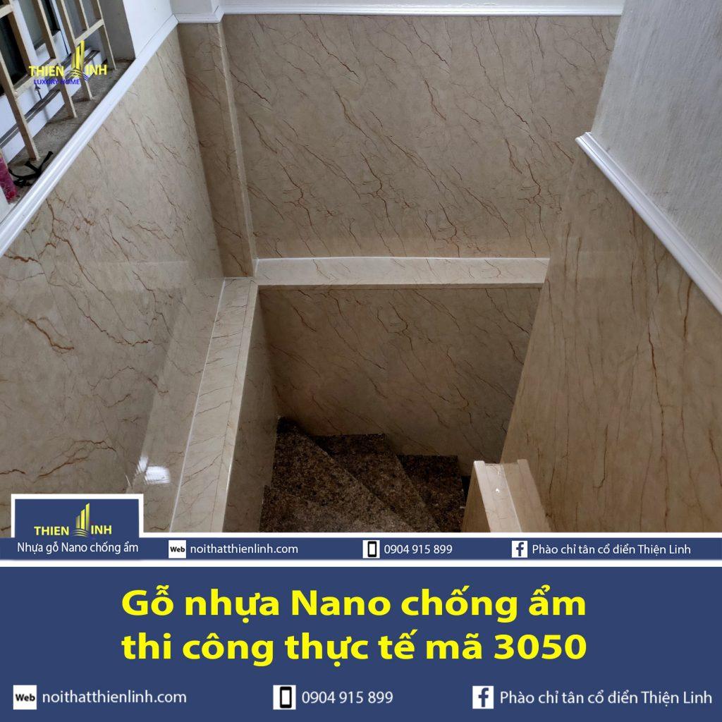 Nhựa gỗ Nano chống ẩm thi công thực tế mã 3050 (1)