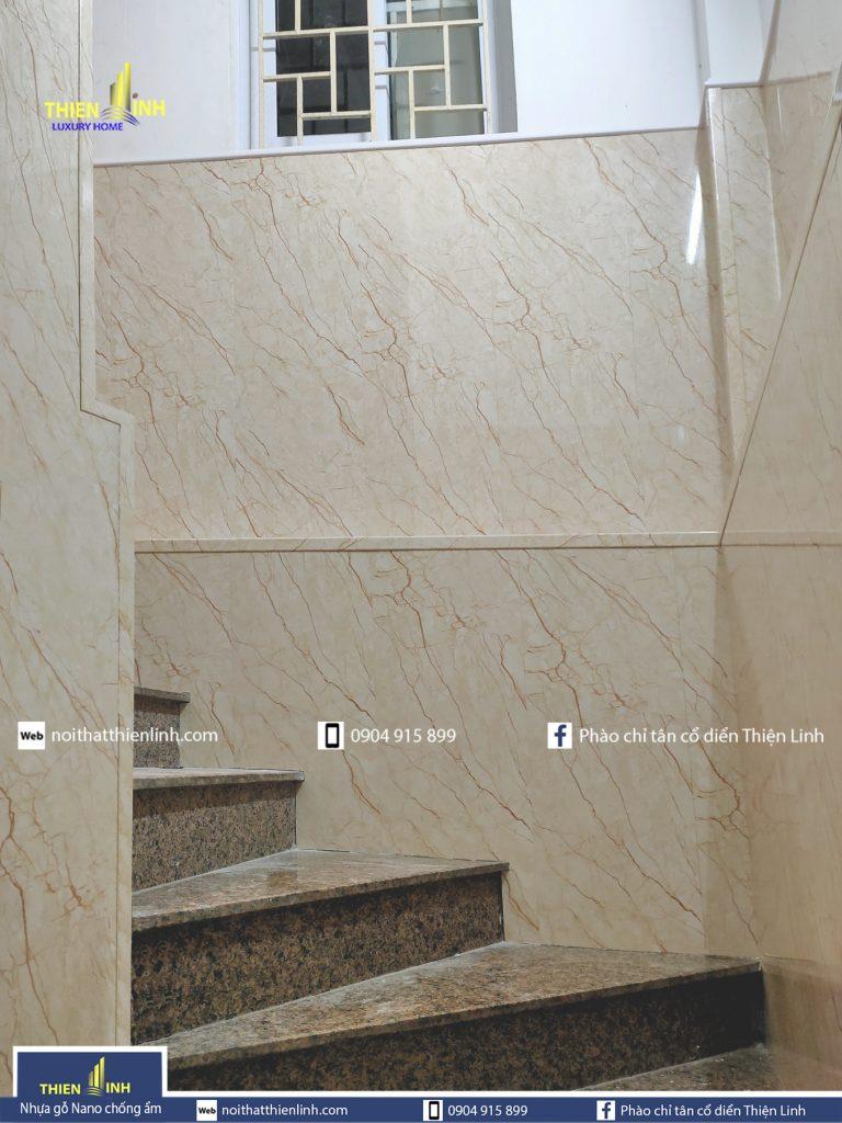Nhựa gỗ Nano chống ẩm thi công thực tế mã 3050 (4)