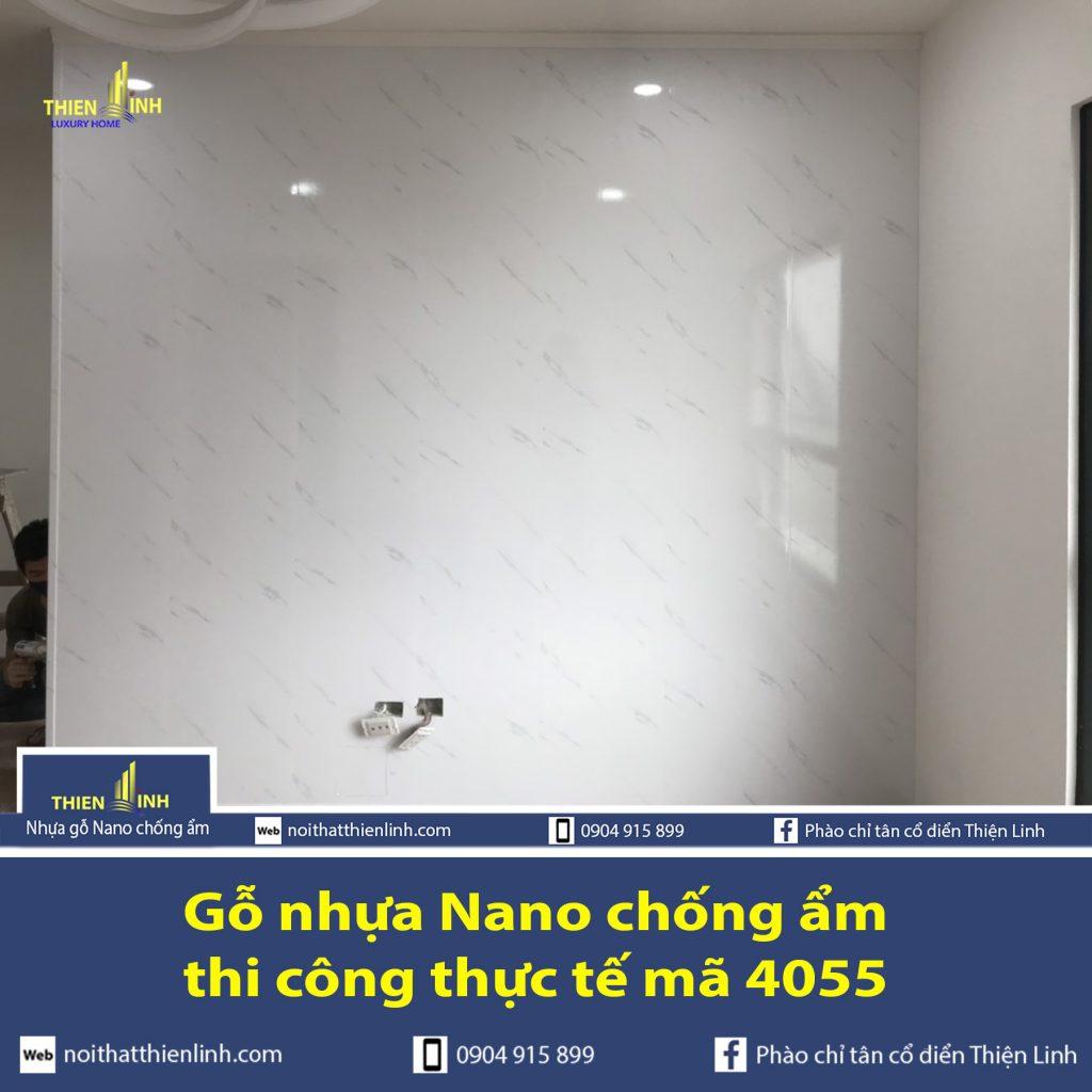 Nhựa gỗ Nano chống ẩm thi công thực tế mã 4055 (3)