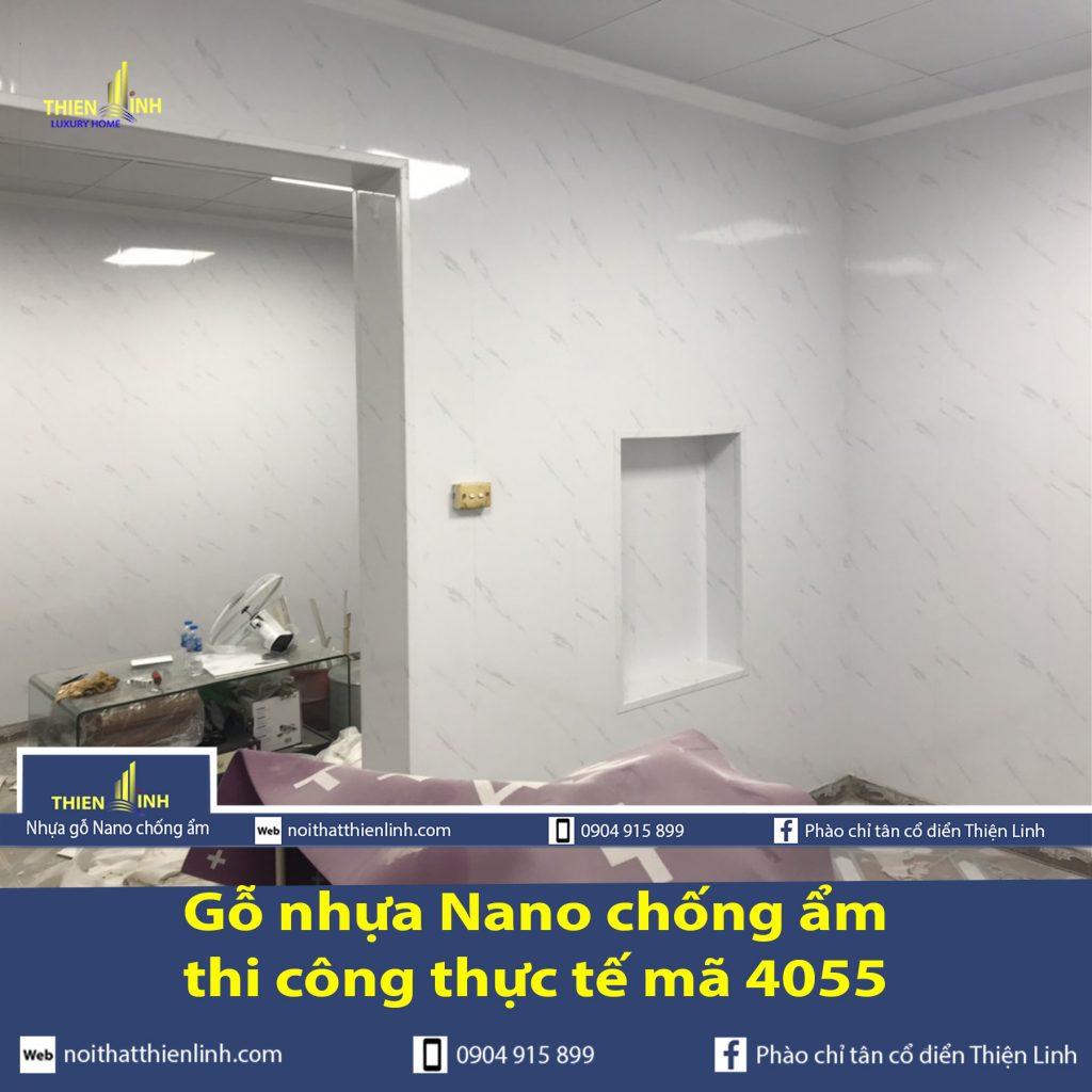 Nhựa gỗ Nano chống ẩm thi công thực tế mã 4055 (4)