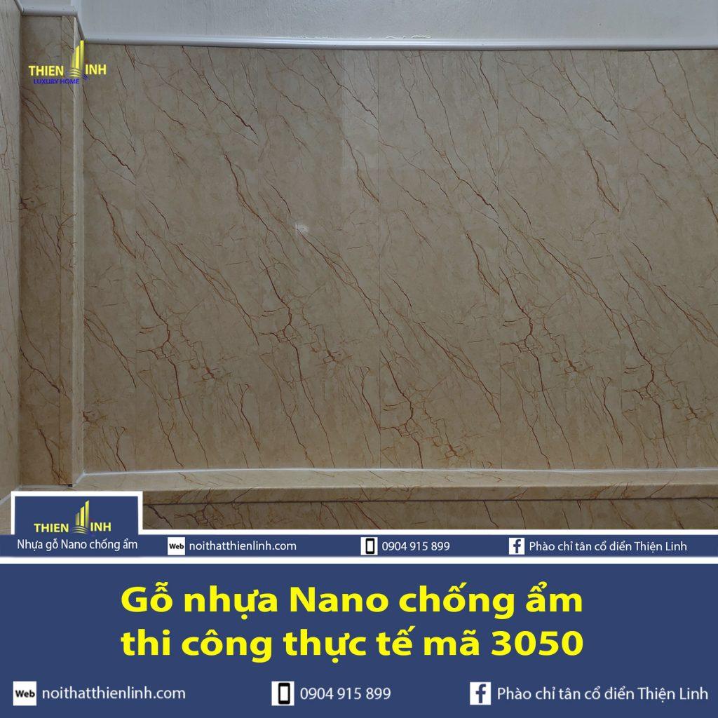 Nhựa gỗ Nano chống ẩm thi công thực tế mã 3050 (2)