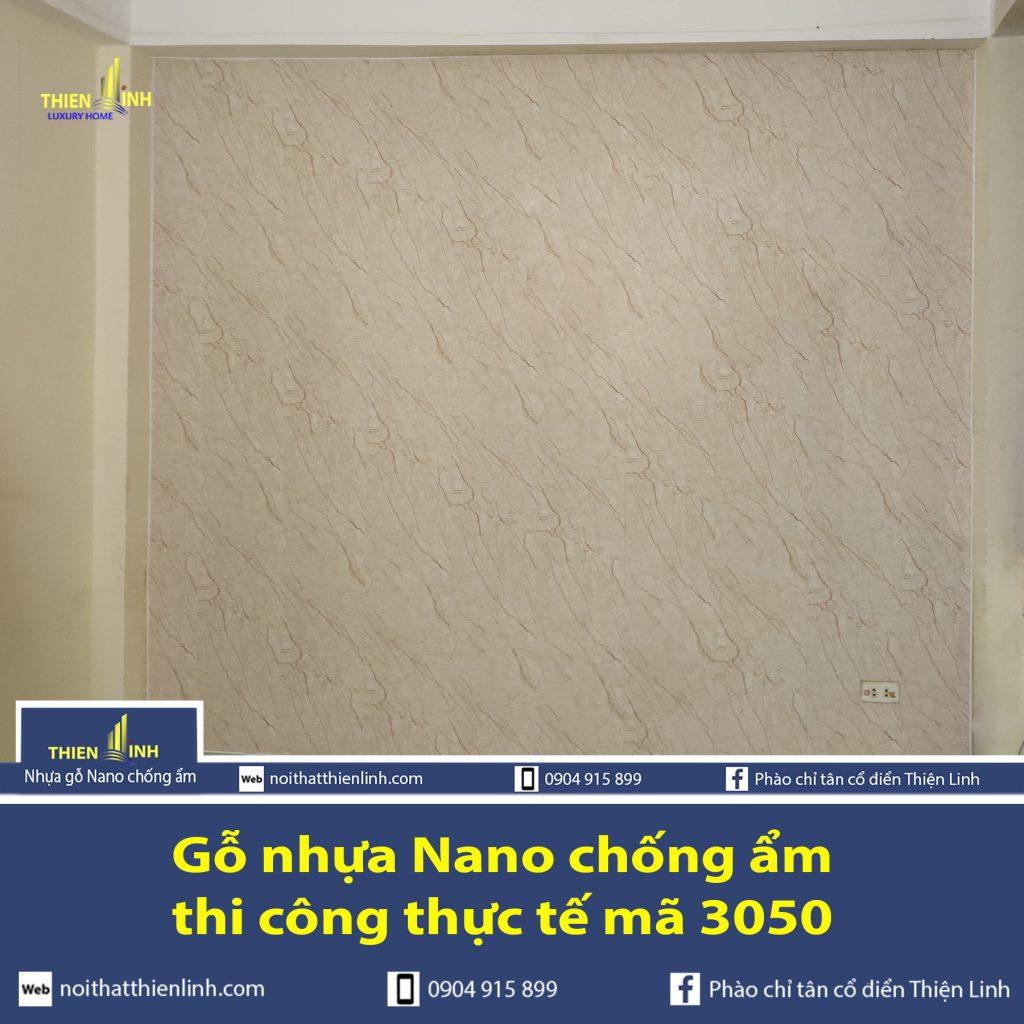 Nhựa gỗ Nano chống ẩm thi công thực tế mã 3050 (3)