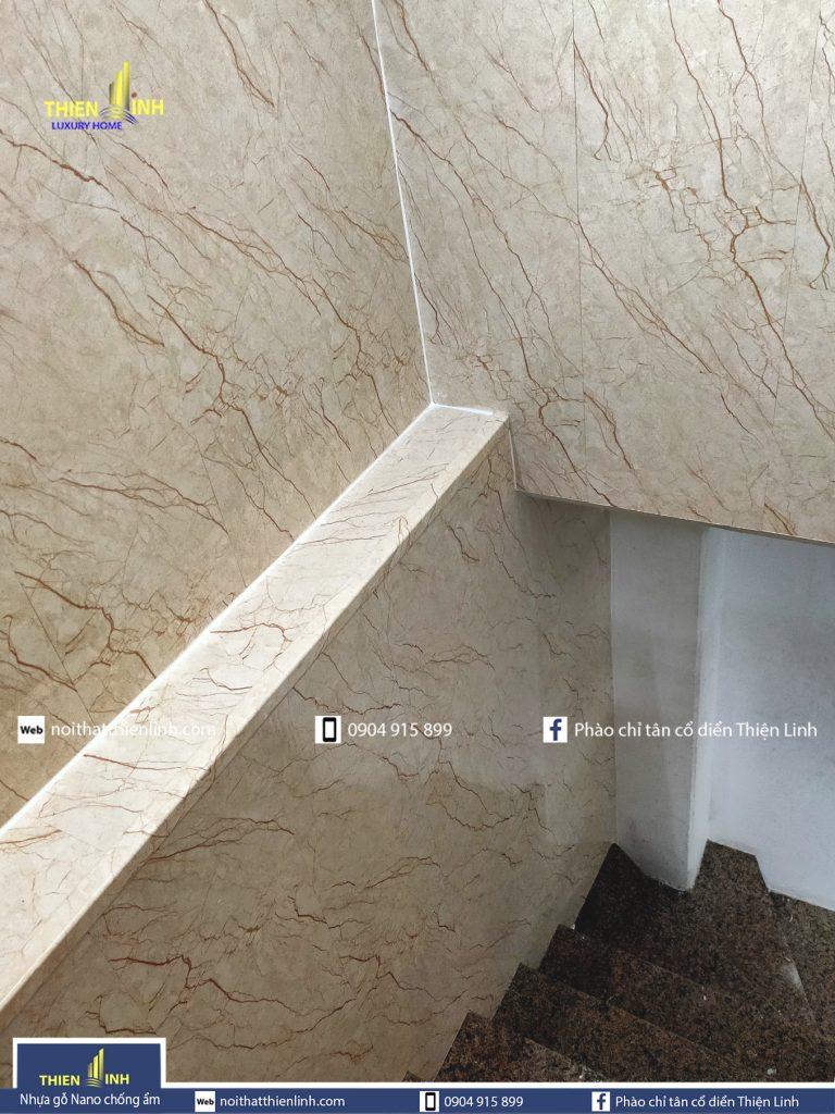 Nhựa gỗ Nano chống ẩm thi công thực tế mã 3050 (5)