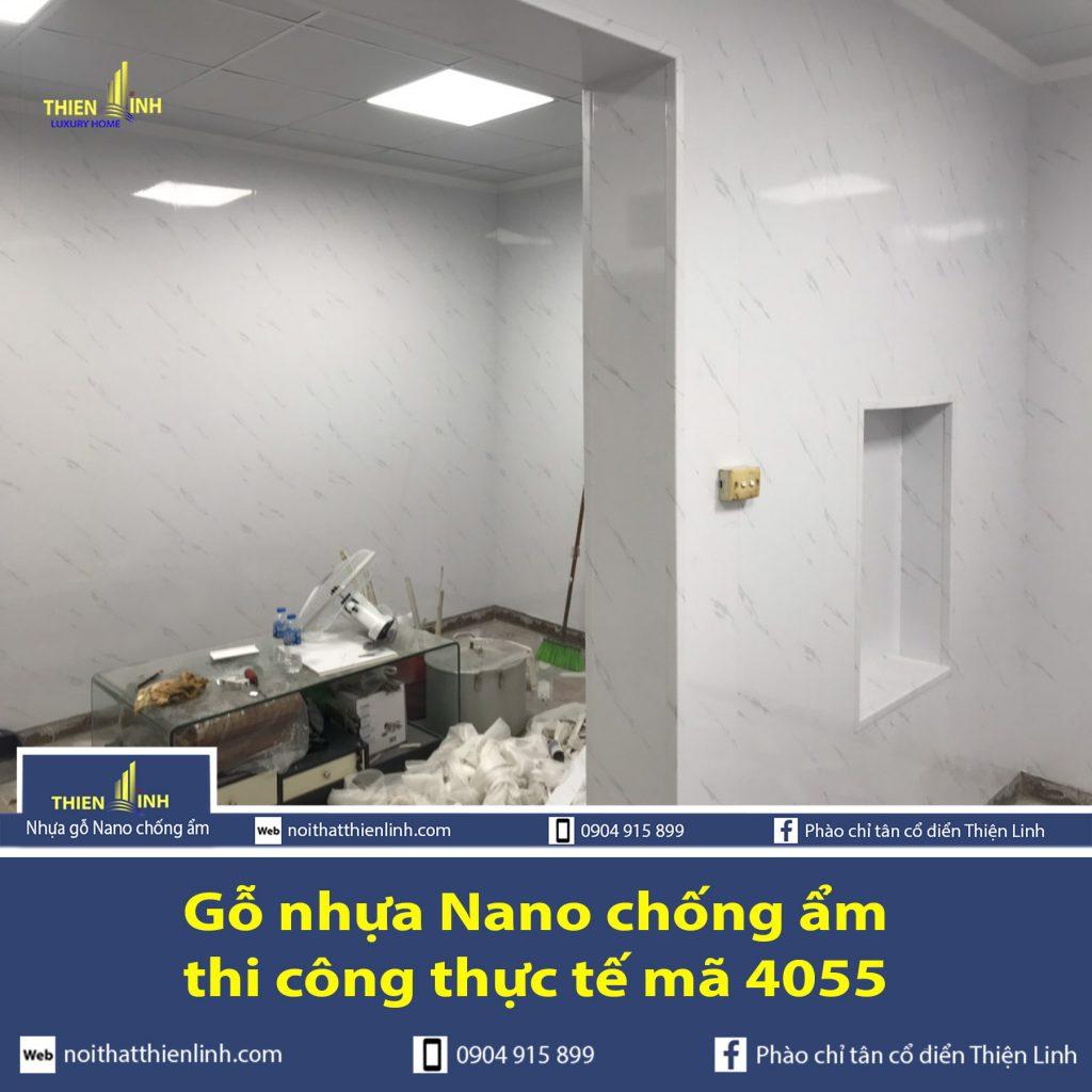 Nhựa gỗ Nano chống ẩm thi công thực tế mã 4055 (2)