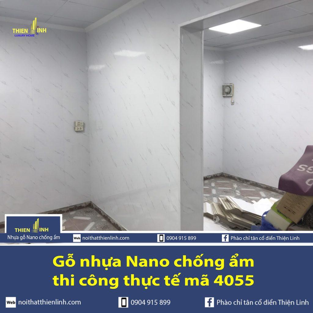 Nhựa gỗ Nano chống ẩm thi công thực tế mã 4055 (5)