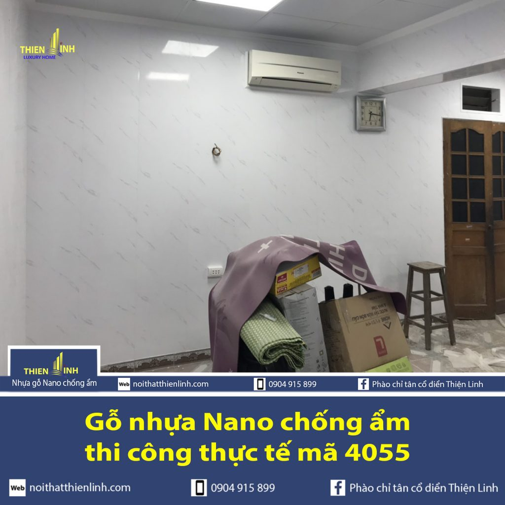 Nhựa gỗ Nano chống ẩm thi công thực tế mã 4055 (6)