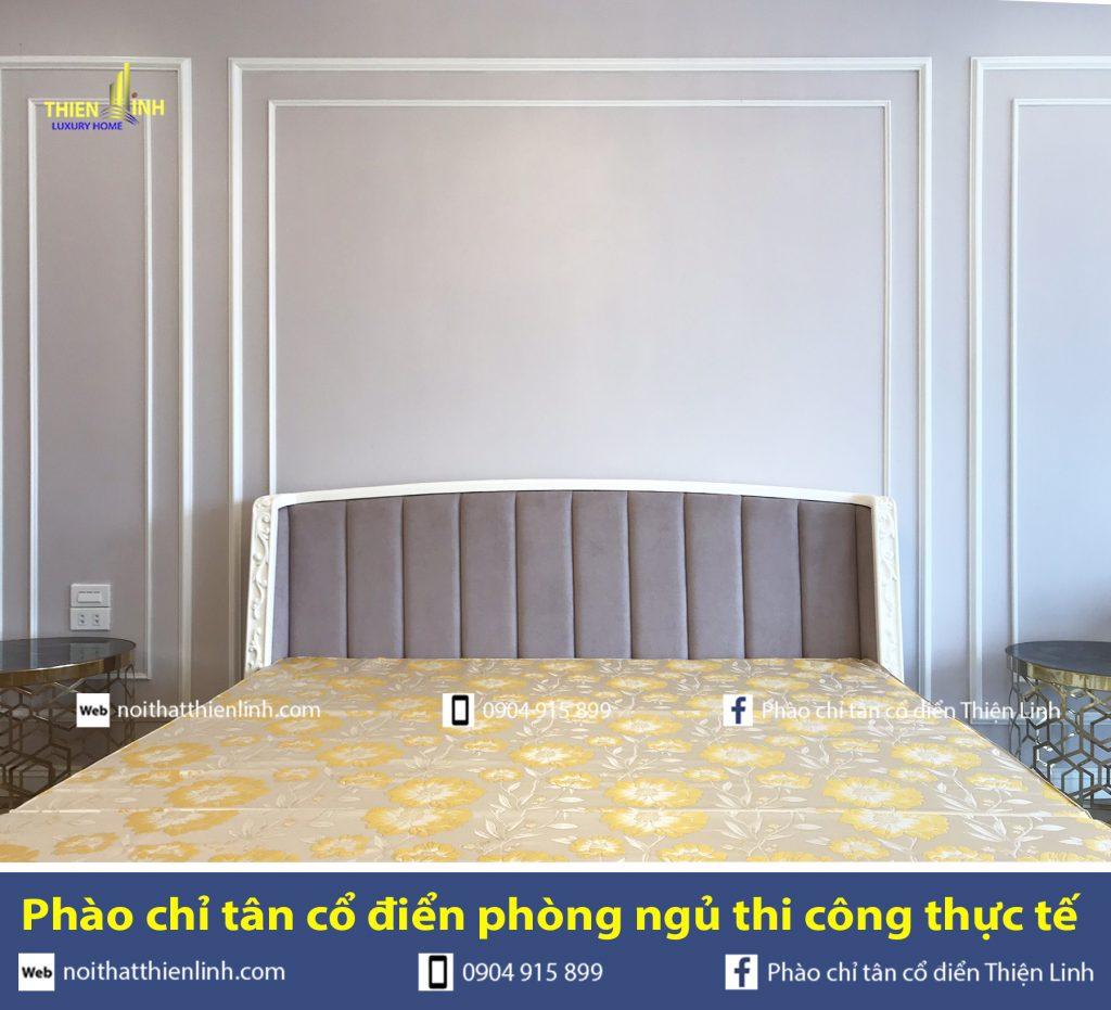 Phào chỉ tân cổ điển phòng ngủ thi công thực tế (6)