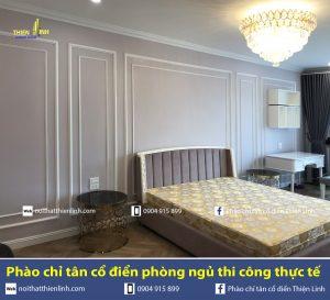 Phào chỉ tân cổ điển phòng ngủ thi công thực tế (7)
