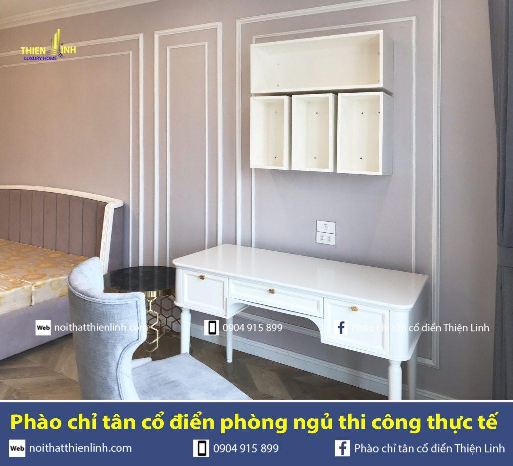 Phào chỉ tân cổ điển phòng ngủ thi công thực tế (8)