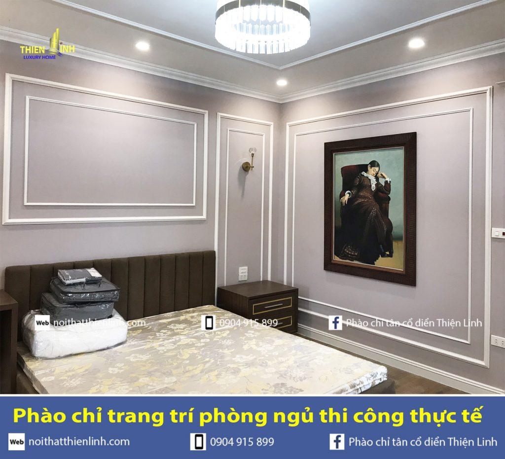 Phào chỉ trang trí phòng ngủ thi công thực tế (2)