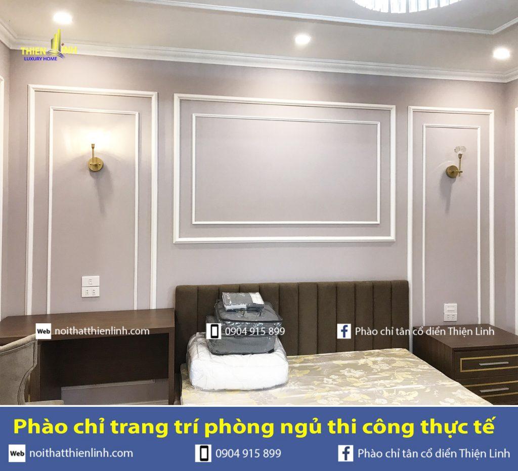 Phào chỉ trang trí phòng ngủ thi công thực tế (2a)