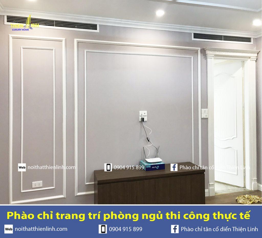 Phào chỉ trang trí phòng ngủ thi công thực tế (4)