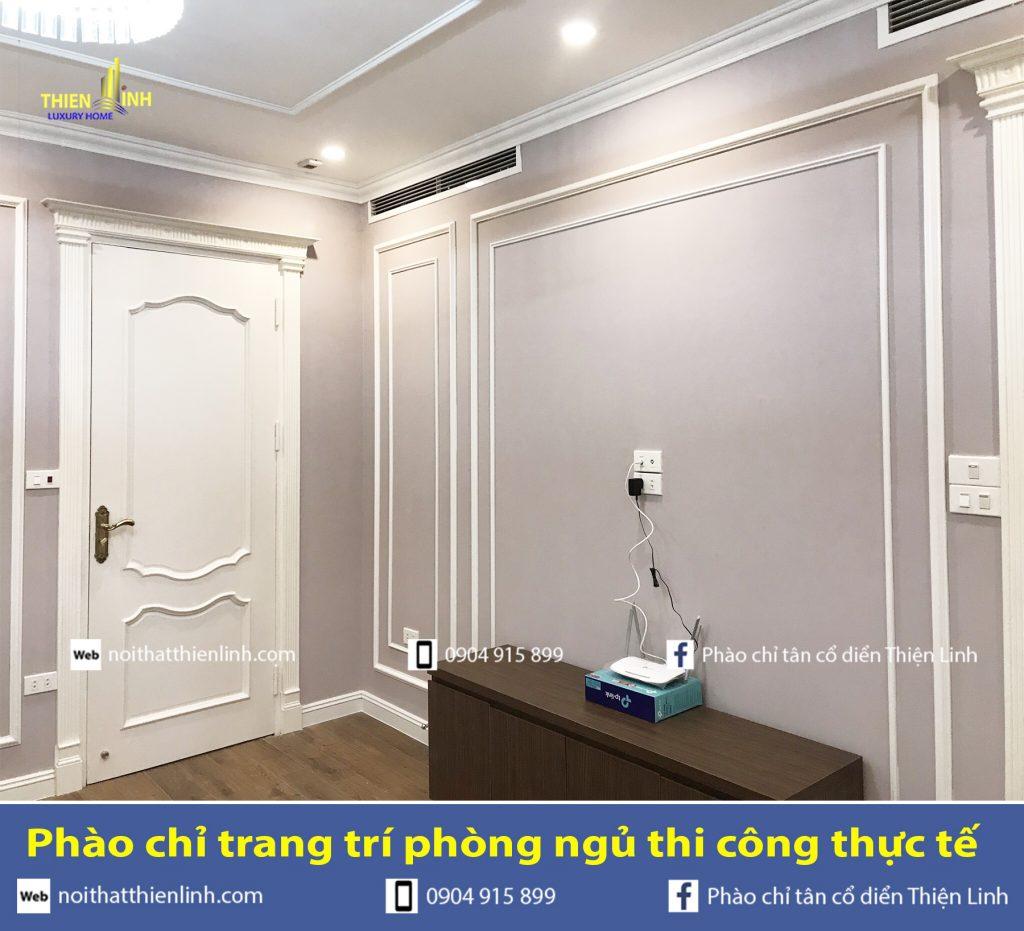 Phào chỉ trang trí phòng ngủ thi công thực tế (5)