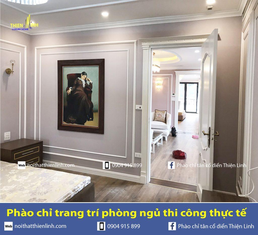 Phào chỉ trang trí phòng ngủ thi công thực tế (6)