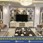 Thiết kế và thi công phào chỉ nội thất phòng khách – ảnh thi công thực tế