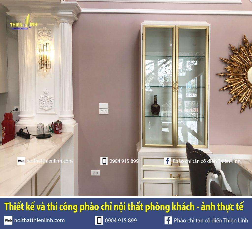 Thiết kế và thi công phào chỉ nội thất phòng khách - ảnh thực tế (12)